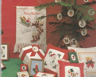 Christmas In Minatures Christmas Cross Stitch Pattern Booklet With 40 Projects