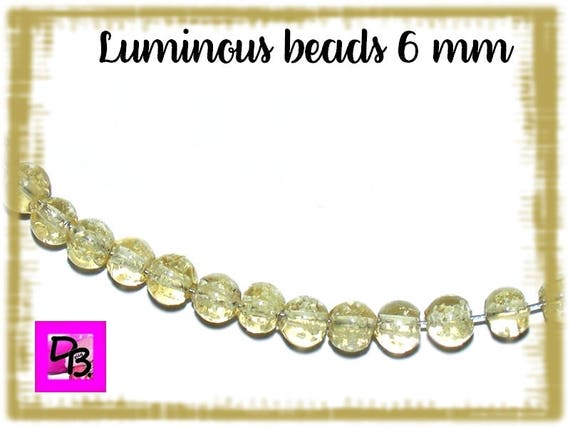 10 Perles Luminous [CornSilk] 6mm