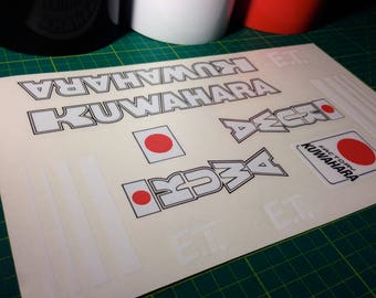 KUWAHARA E.T. - BMX Sticker/Decal set - et Extra Terrestrial Nova Laserlite kz