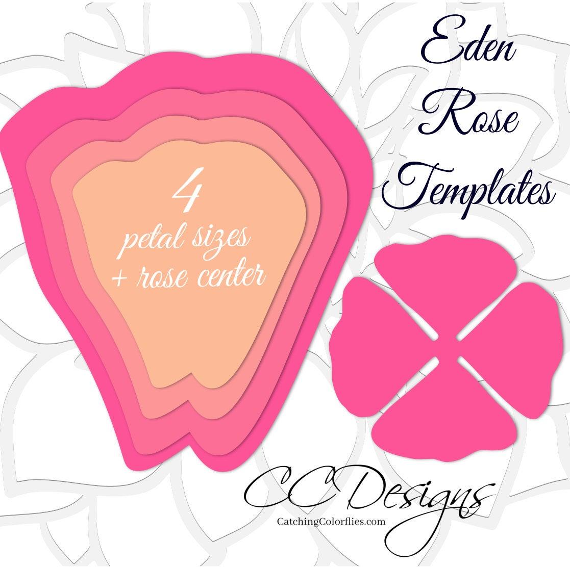 Giant Paper Roses, Paper Rose Flower Patterns, Printable Flower ...