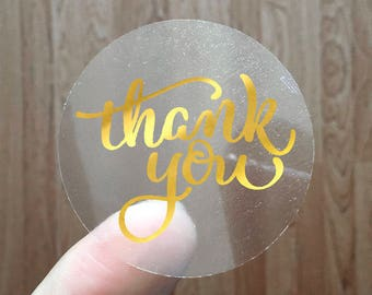 THANK YOU - Gold Foil Labels - Sticker - Seal - #19