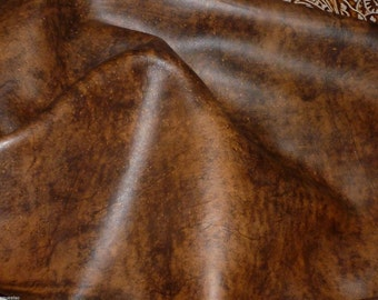 "Leather 12""x12"" Artisan Tie Dye WHISKEY BROWN Cowhide 3-3.5 oz / 1.2-1.4 mm PeggySueAlso™ E2920-04"