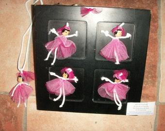 Mini dolls dancers fabric