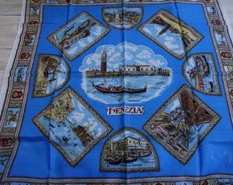 """Vintage Souvenir scarf Venice  67cm x 68cm / 26.3"""" x 26.7"""""""