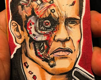 T2: 25th Anniversary Terminator 2 T800 Artist Sketch Card