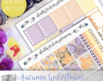 Autumn Wildflower Full Weekly Kit - Printable Stickers for ERIN CONDREN
