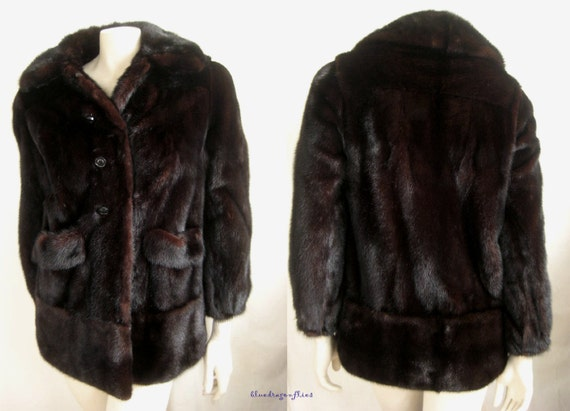 gift FUR Ruby Brown MINK Darkest Luxury Ranch Jacket Pristine ~ MAHOGANY Coat ZwpnqOPxU