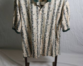 Vintage Mens Tabasco Aligators and Tabasco Sauce Polo Shirt  - Size Extra Large