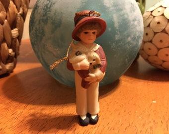 Jan Hagara Christmas Ornament CHRIS Royal Orleans 2 Year Edition 1986