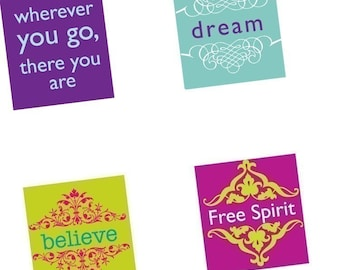 Digital sheet-Quotes and Sayings - Funky Pallette - 7/8 Inch Pendant Images- BUY 2 GET 1 FREE-pendant digital images