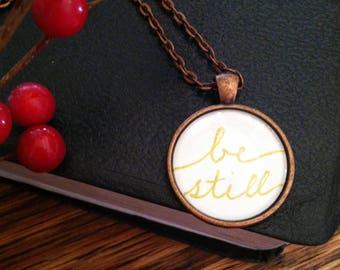Be Still (Gold) Pendant