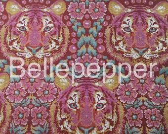 Tula Pink Eden Crouching Tiger Tourmaline Fabric, 1 Yard