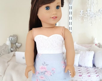 18 inch doll skirt and bustier