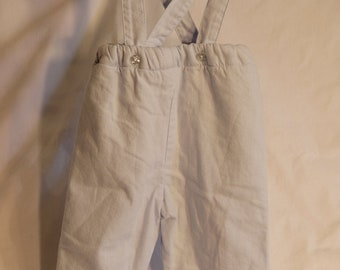 Lined Baby Pants with Straps, 6M
