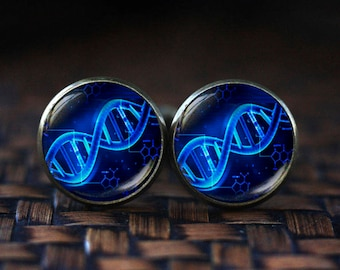 Molecule Cufflinks, Science Cufflinks, DNA Cufflinks, Chemistry Physics Sci Fi cufflinks, Doctor gift Double Helix Biology cufflinks