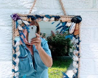 Mirror wall hanging