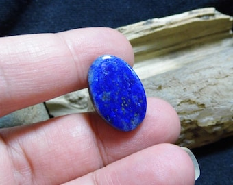Oval Blue Lapis Lazuli Gemstone Tie Tack Hat Collar Lapel Scarf Brooch Pin