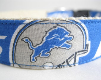 Detroit Lions hemp dog collar or leash