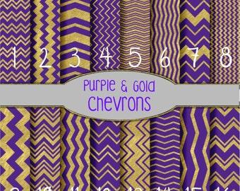 Printed Vinyl, Purple & Gold Chevron, Pattern Vinyl, Adhesive Outdoor Vinyl, HTV, Heat Transfer Vinyl, Iron On Vinyl, Purple and Gold Vinyl