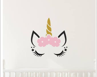 Unicorn Wall Decal Etsy