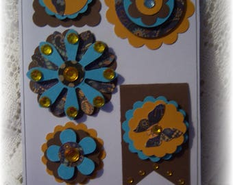 Scrapbook Layered Cardstock Embellishment Journal,Tag,Handmade Card