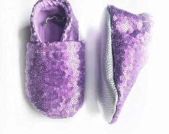Purple Sequin Slippies