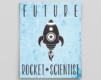 Future Scientist Poster Nursery Rocket Scientist Baby Science Nursery Decor Rocket Science Space Gifts for Babies Space Nursery Ideas Nerdy