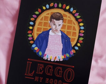 Stranger Things Print, Eleven, Upside Down, Art Poster