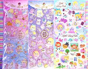 Q-Lia sticker sheet - kawaii epoxy sticker sheet - little fairy tale