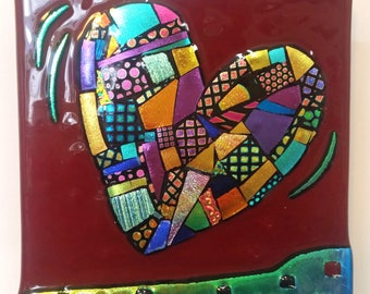 Quilt Pattern Heart Tile