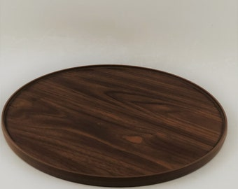 Vintage Rubbermaid Brown Wood Grain Lazy Susan