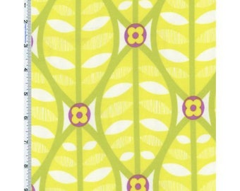 Citron Yellow Erin McMorris Greenhouse Buttonwood Print Flannel