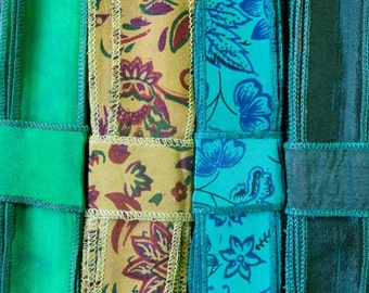 Silk Sari Ribbon, Silk Trim, 4 colors, R33