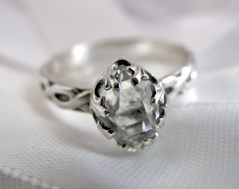 Herkimer Diamond and Sterling Silver Ring