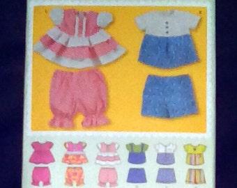 Uncut Pattern - Simplicity 1889 - Babies tops, panties and shorts = size xxs,xs,s,m,l