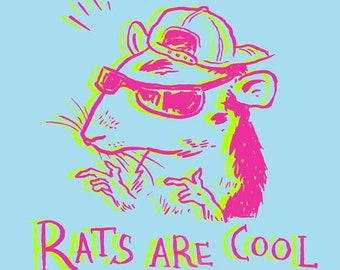 Rats Are Cool 3x3 Vinyl Sticker