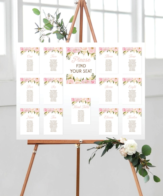 Wedding Seating Chart Template Diy Printable Wedding Table