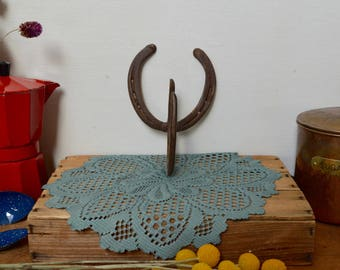 Genuine Vintage Horseshoes Metal Craft Rusty Hook Hanger Wall Decor
