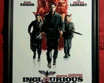 Inglourious Basterds Movie Poster Framed Art Print Tarantino Pitt Gift Present