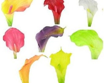 LizAnn's TRUE TOUCH CALLA Lilies,One Dozen, Weddings, Floral Arrangements, Silk Flowers, Floral Supplies,