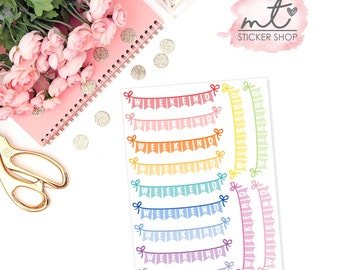 Weekend Banner || Planner Stickers || Erin Condren Life Planner, Happy Planner || SKU 021