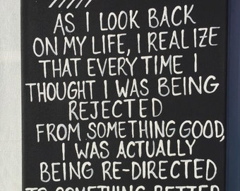 As I look back on my life painting