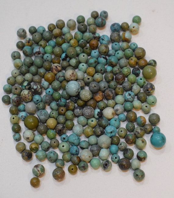 Beads Chinese Assorted Turquoise Round Stone Beads 6mm - 10mm