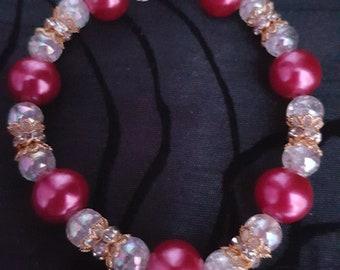 Pretty Beaded Elasticated Bracelet