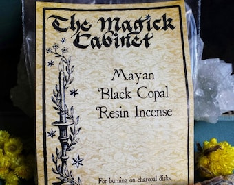 Black Mayan Copal Resin Incense, Witchcraft Supply, Wicca Supplies, Witch Incense, Smudging, Natural Incense, Incense, Smudge Incense
