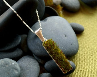 Gather Moss Pendant, Vertical