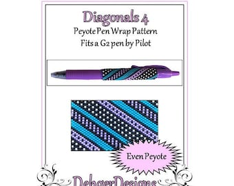 Bead Pattern Peyote(Pen Wrap/Cover)-Diagonals 4