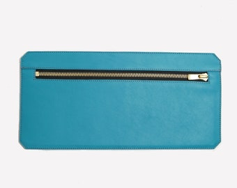 Yuna tm17, leather wallet vachettte Turquoise.