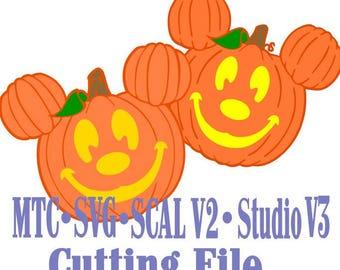 Halloween Magical Pumpkins  MTC Silhouette SCAL SVG Cut File Die Cut