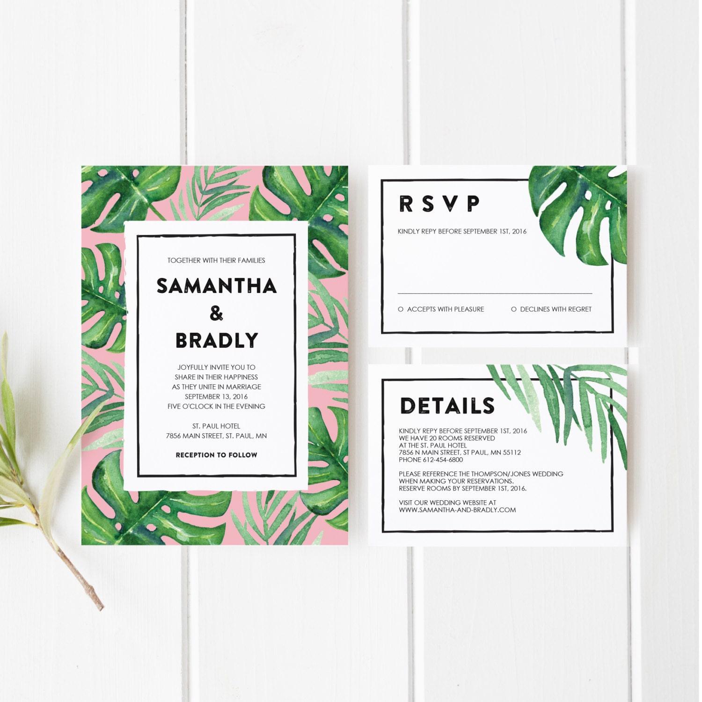 printable wedding invitation template set wedding invitation